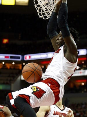A first half Montrezl Harrell dunk forced an Ohio State timeout Tuesday at the KFC Yum! Center.