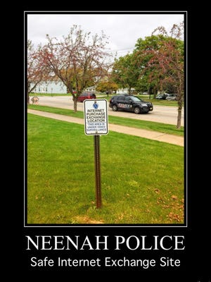 Neenah police are among the Fox Valley agencies offering a designated area for transactions involving internet sales.