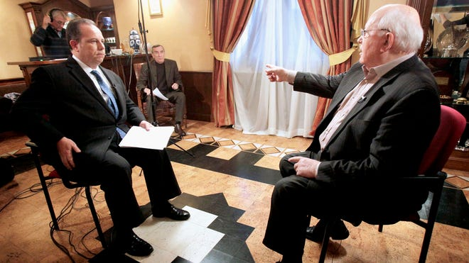 Interview with Mikhail Gorbachev in Moscow, Russia, on Tuesday, Dec. 7, 2010.