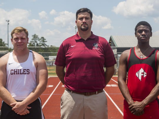 North Florida Christian senior Leonard Holmes is the 2016 All-Big Bend Runner of the Year for boys track and field, first-year Chiles coach Philip Browning is the Coach of the Year after the Timberwolves won a third straight 3A state championship, and Chiles senior Cole Upthegrove is the Field Athlete of the Year.