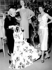 Barbara Foster preparing for a fashion show sponsored