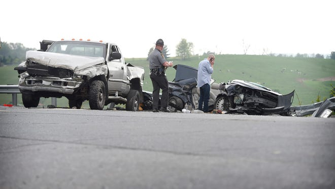 A collision between a car and a pick-up truck at the intersection of Old Mill Rd and Route 501 in Heidelberg Township resulted in the death of one man. Steven Monett-Andino, 21, Lebanon, died in the crash. Monett-Andino was the driver of a Volvo car that collided with a pick-up truck on Route 501 south of Schaefferstown.
