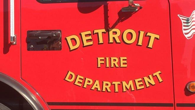 Detroit fire engine.