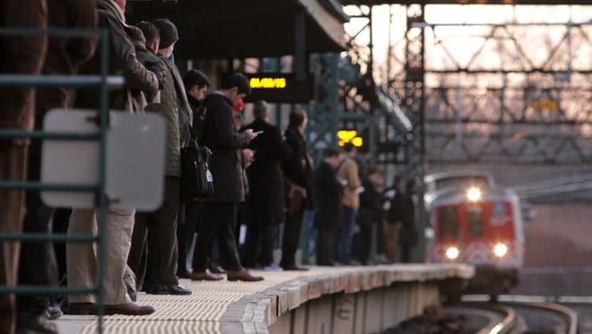 Commuters at Rye wait for their morning train to Grand Central on Jan. 20, 2015.