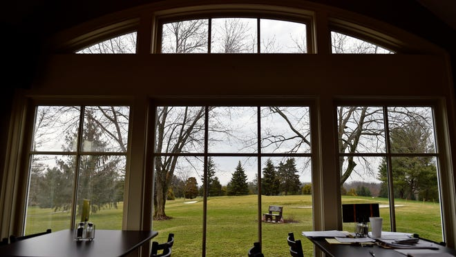 Part of the Grandview golf course can be seen from windows in the cafe area of the clubhouse.