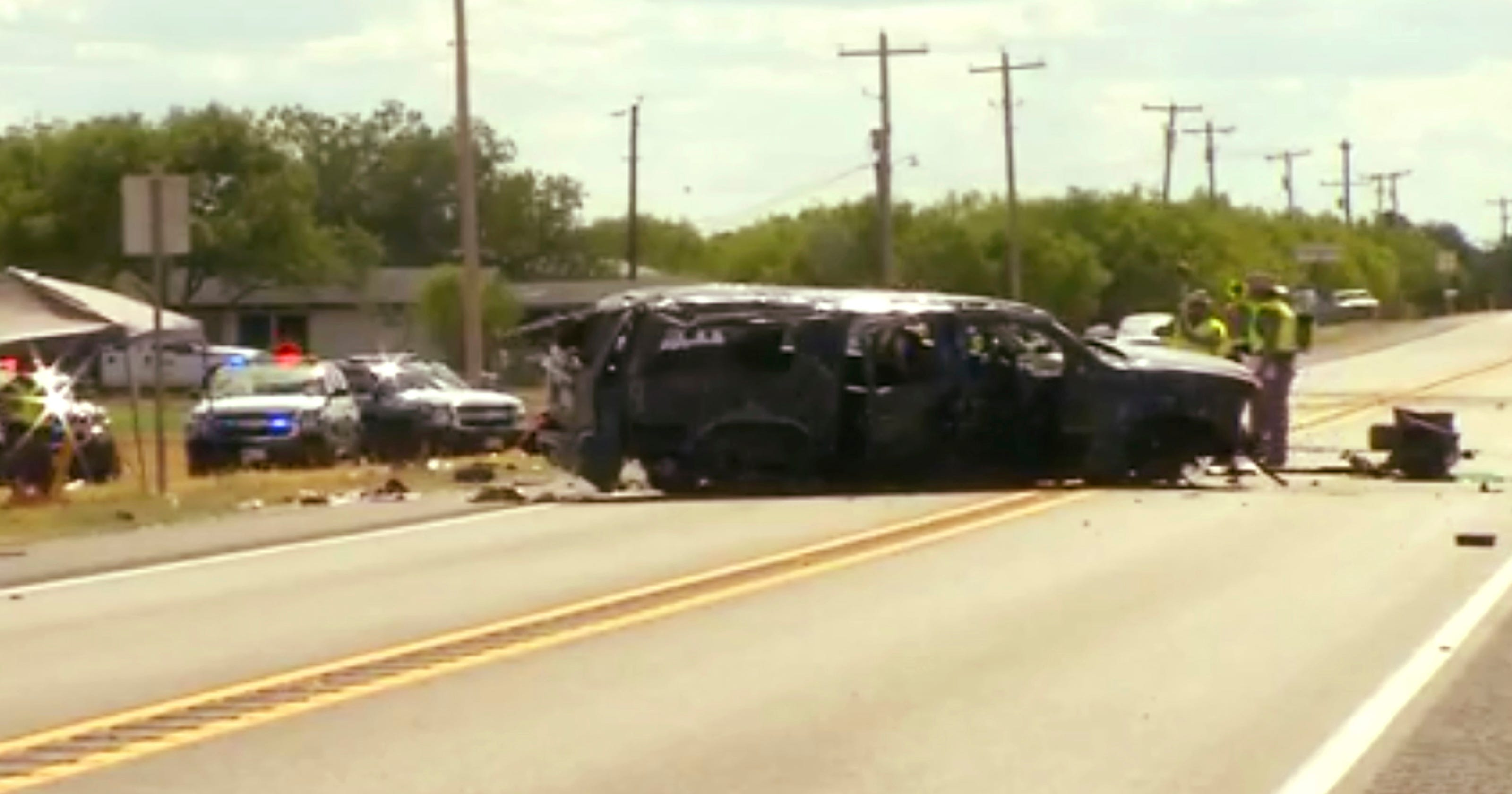 Texas Crash 5 Killed After Police Chase In Big Wells