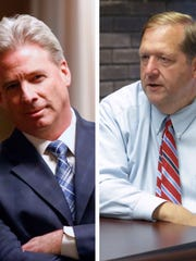 Democrat Michael Sullivan, left, and Republican and incumbent George Hoehmann, right, contended for the Clarkstown supervisor position in the November election.