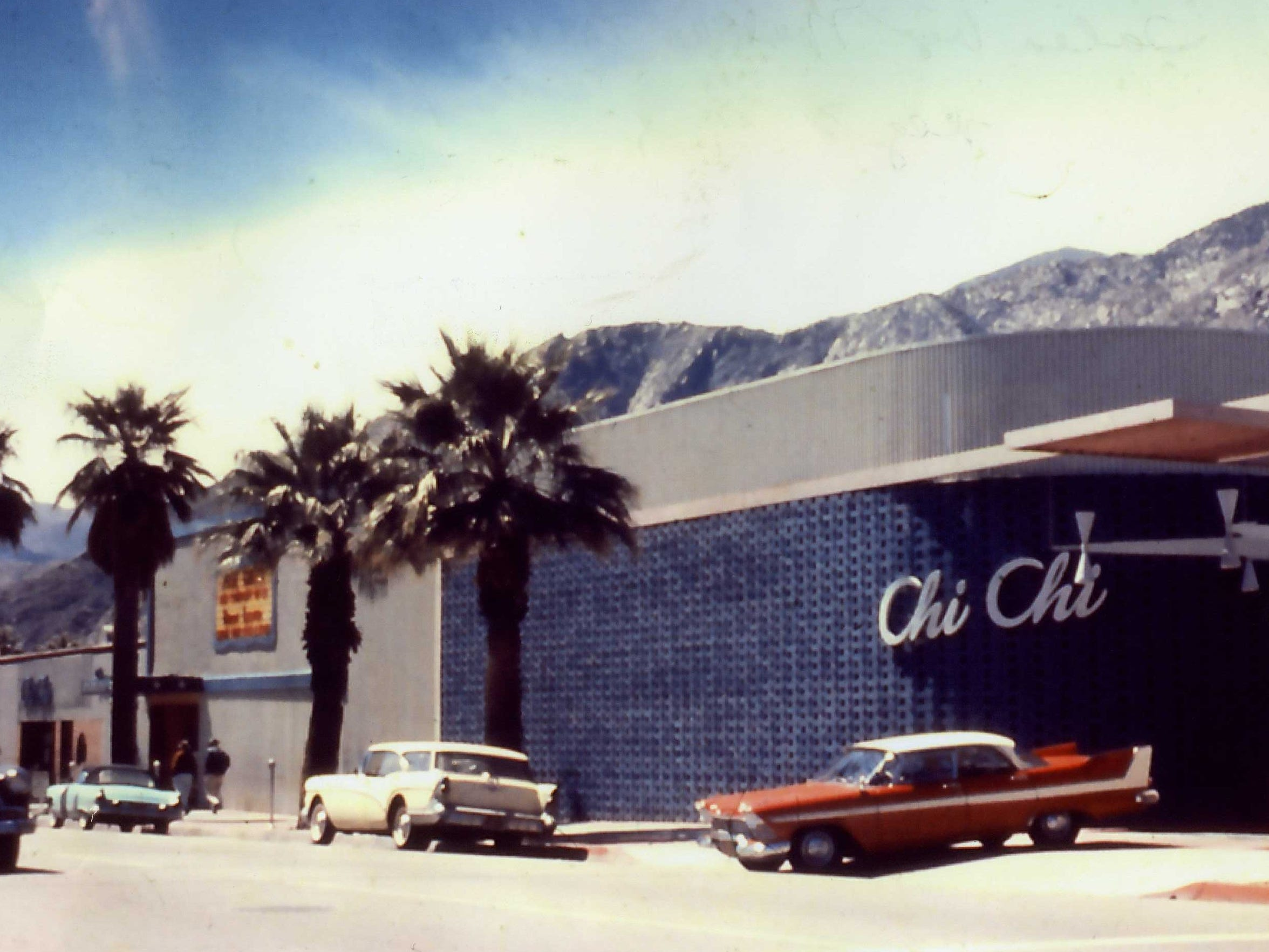 The exterior of the Chi Chi as pictured in the 1950s.