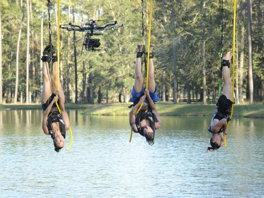 "A scene from the FOX competition series ""American Grit,"" featuring four teams of four vying for $1 million."