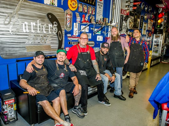 Barbers Edge would be nothing without these great guys, said Joe da Barber, pictured center, with his staff, in no particular order: Dave Moore, Michael Placido, Anthony Smith, Tommy Figueroa, and Roy Collins