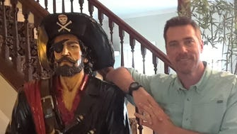 Chip Stevens has a life-size statue of a Blackbeard-looking pirate in the lobby of his inn. Guests frequently ask what happened to Blackbeard's treasure.
