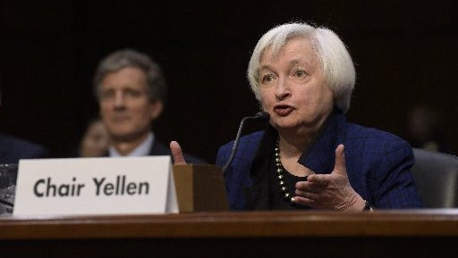 The Federal Reserve raised rates only once in 2015.  In this Nov. 17 file photo, Federal Reserve Chair Janet Yellen testifies on Capitol Hill in Washington, before the Joint Economic Committee. Many expected that the Fed will raise interest rates on Dec. 14.