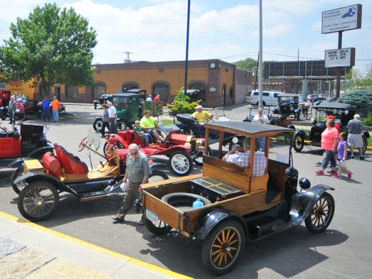 outside the model t ford club of america museum during the model t. Cars Review. Best American Auto & Cars Review