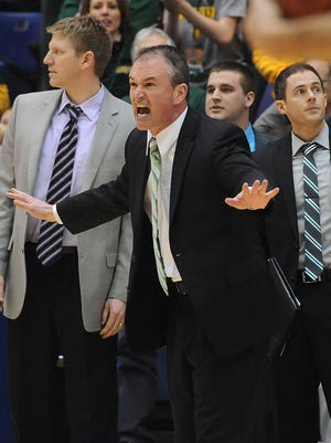 Will Ryan, the son of college basketball Hall of Famer Bo Ryan, at far right, served as an assistant coach under Saul Phillips for five seasons at Ohio University and seven seasons at North Dakota State.