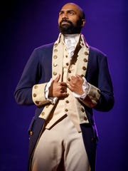 Nik Walker plays Aaron Burr in the national tour of