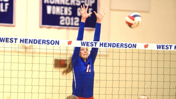 West Henderson senior Gracie Carrick has committed to play college volleyball for Winthrop.