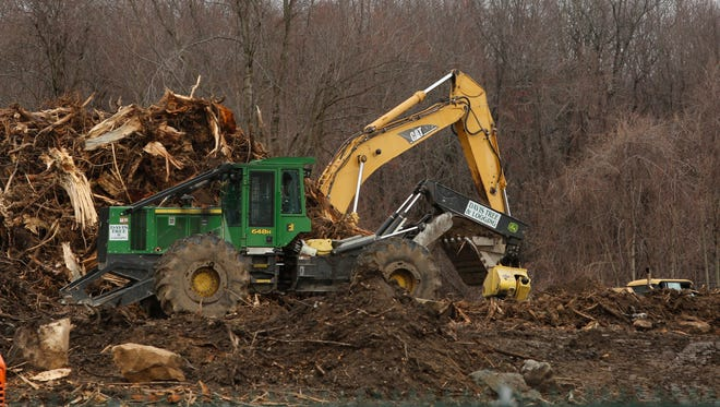 Construction at the site of the new Cortlandt Crossing shopping center in Mohegan Lake.