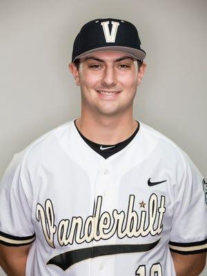 Vanderbilt pitcher Patrick Raby.
