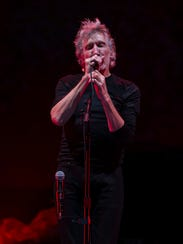 Roger Waters sings during his free concert on Oct.