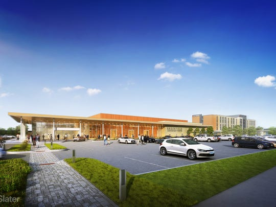 An overall rendering of the proposed Brookfield Conference Center is pictured.