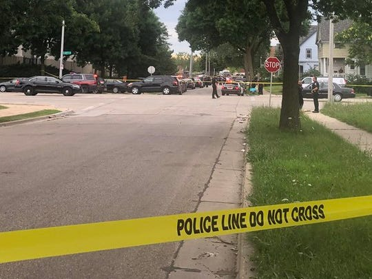 A Milwaukee police officer was shot Wednesday evening