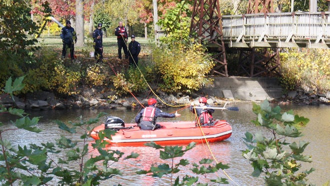 Anyone who saw members of the Pontiac Fire Department in the Vermillion River last weekend need not be alarmed, they were just practicing in case a real emergency takes place in the water.