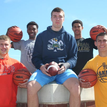 Harper Creek's highly-successful boys' basketball team featured five returning senior starters for the 2014-15 season - James Cadena, Brandon Hutson, TraVon Johnson, Jack Thompson and Khylen Watkins. All five will continue their athletic careers at the college level.