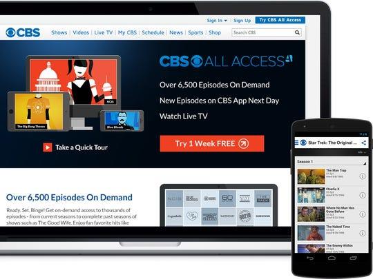 The CBS All Access app.