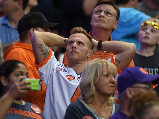 Clemson fans during the 4th quarter on Friday, Oct.