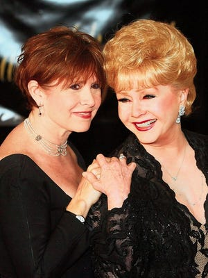 Carrie Fisher and mother Debbie Reynolds.