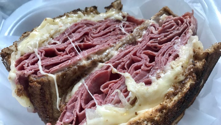 The Reuben from Wicked Good Deli in Fort Myers.