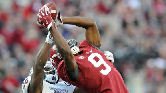 Mel Kiper Jr. has Alabama receiver Amari Cooper going to the Oakland Raiders with the fourth overall pick in the upcoming NFL draft.
