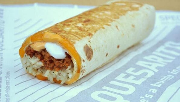 The quesarito will be available at Taco Bell on Monday.