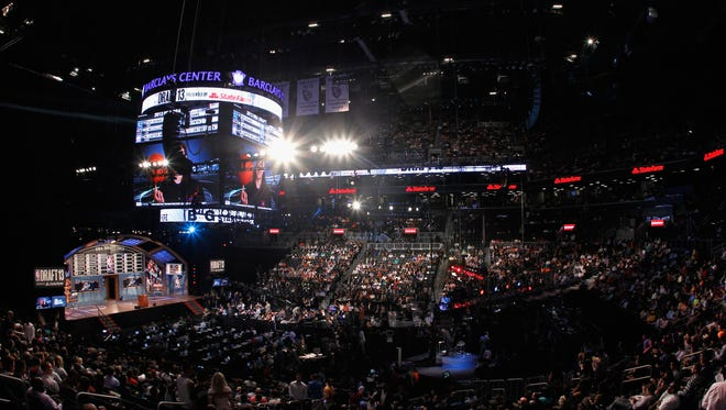 The NBA draft is held at Barclays Center in Brooklyn.