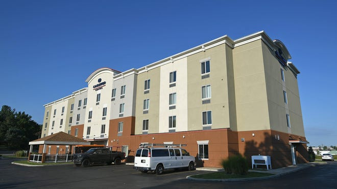 The Candlewood Suites hotel, 2020 Edinboro Road in Millcreek Township, is shown on Friday. With hotel occupancy rates low due to the pandemic, the owner of the hotel is challenging its $3.7 million assessed value before the Erie County Board of Tax Assessment Appeals.