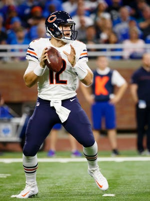 Chicago Bears quarterback Matt Barkley looks to pass against the Detroit Lions.