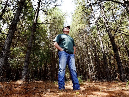 Landowner Danny McCormick is worried about his land