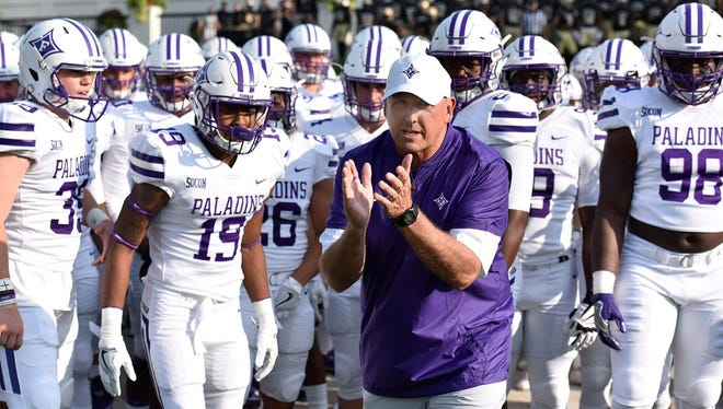 Furman coach Clay Hendrix and his Paladins will open the 2018 season on the road Sept. 1 against Clemson.