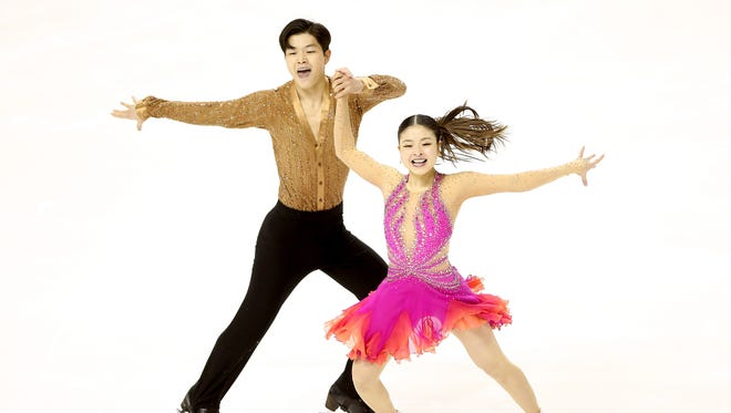 Alex and Maia Shibutani have a healthy lead after the short dance program of the ice dance competition at the U.S. Figure Skating Championships on Friday in San Jose, Calif.