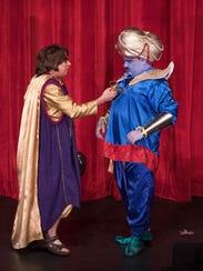 James McArthur (left) starred as Aladdin and James