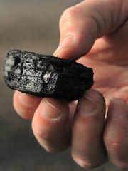 A piece of coal.
