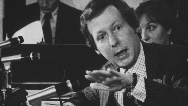 In 1978, then-Jefferson County Judge-Executive Mitch McConnell talked during a Fiscal Court meeting.