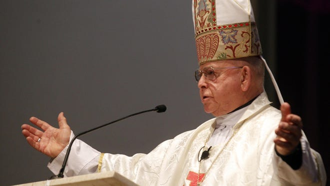 The Most Rev. Michael D. Pfeifer gives a sermon during a special Mass at Sacred Heart Cathedral in San Angelo in 2013.