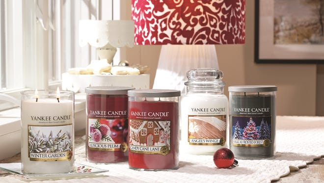 A collection of Yankee candle products.