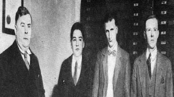 The Hex murderers: from left, Wilbert Hess, 18; John Curry, 14; and John Blymyer, early 30s