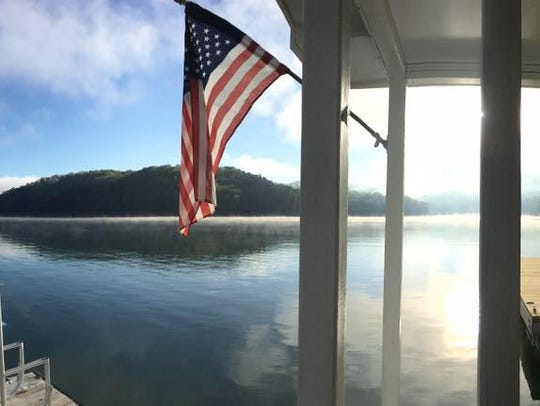 A view from the front porch of the Sneed Family's houseboat