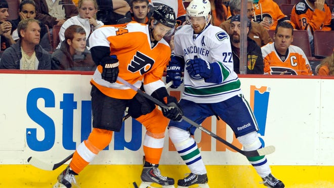 The Flyers face the Canucks for the first of two meetings this year.