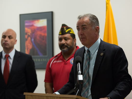 District Attorney, Mark D'Antonio, spoke enthusiastically about the new Veterans Courts that are being planned for Doña Ana County.