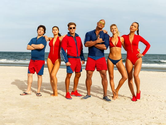 "The movie ""Baywatch,"" based on the successful TV series,"
