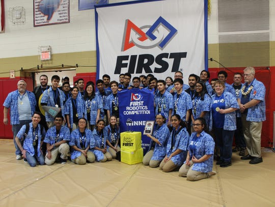 The FRC Team 25 from North Brunswick Township High
